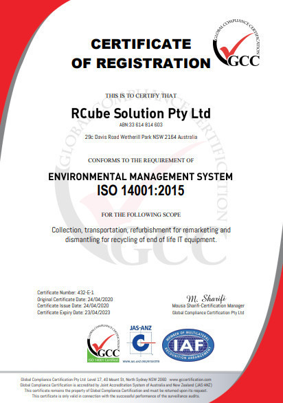 Rcube Solutions Certificate